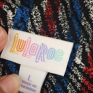 LuLaRoe Tops - Amy shirt lularoe red blue unicorn large
